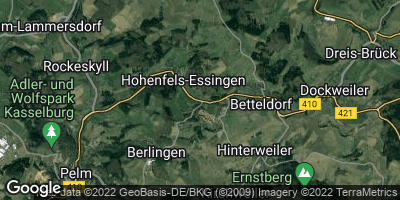Google Map of Hohenfels-Essingen