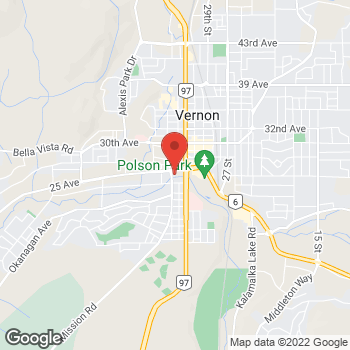 Map of Tim Hortons at 2409 34th St, Vernon, BC V1T 9E5