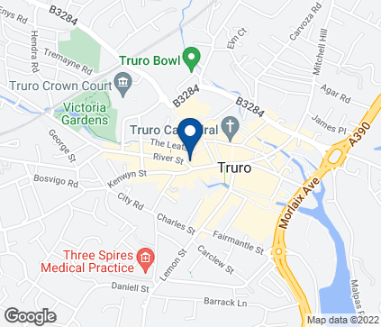 Map of 36 River Street in Truro