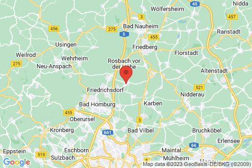 Karte Rosbach vor der Höhe Rodheim vor der Höhe