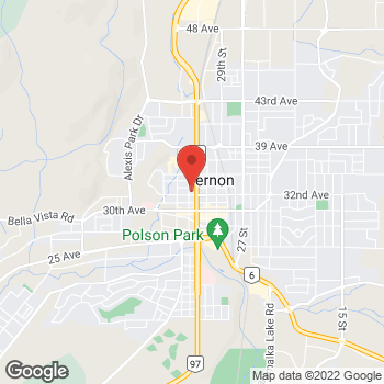 Map of Staples Print & Marketing Services at 3202-32nd Street, Vernon, BC V1T 5M8
