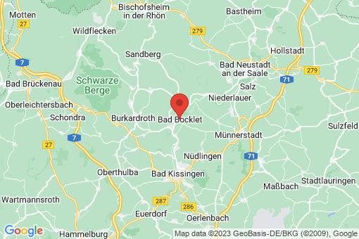 Karte Bad Bocklet