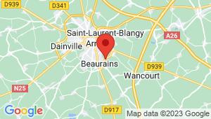Carte de localisation du centre de contrôle technique BEAURAINS