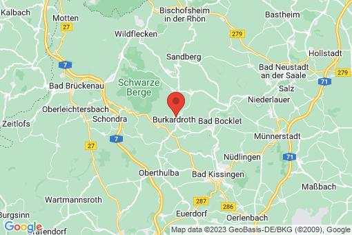 Karte Burkardroth