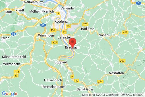 Karte Braubach