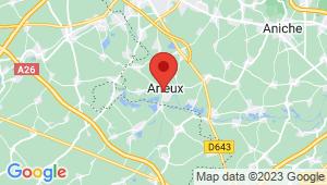 Carte de localisation du centre de contrôle technique ARLEUX
