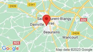 Carte de localisation du centre de contrôle technique ACHICOURT