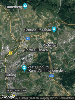 Google Map of Dörfles-Esbach