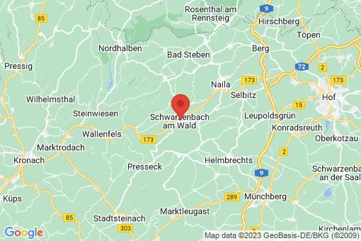 Karte Schwarzenbach am Wald