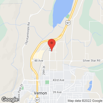 Map of Burger King at 2505 53rd Ave, Vernon, BC V1T 8G4