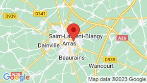 Carte de localisation du centre de contrôle technique SAINT LAURENT BLANGY