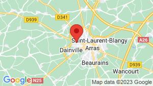 Carte de localisation du centre de contrôle technique ARRAS