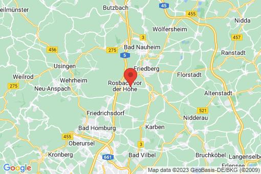 Karte Rosbach vor der Höhe Nieder-Rosbach