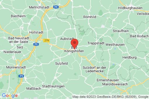Karte Bad Königshofen im Grabfeld