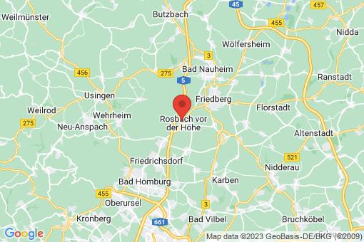 Karte Rosbach vor der Höhe