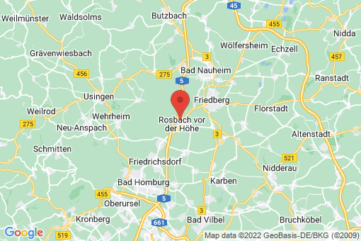 Karte Rosbach vor der Höhe Ober-Rosbach