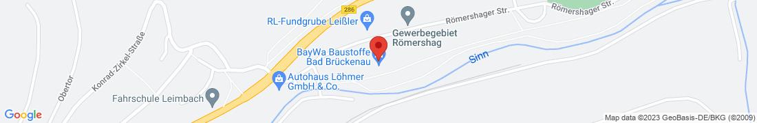 BayWa Baustoffe Bad Brückenau Anfahrt