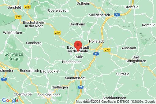Karte Bad Neustadt an der Saale