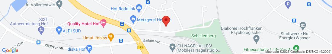 BayWa Tankstelle Hof/Saale Anfahrt
