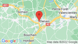 Carte de localisation du centre de contrôle technique DENAIN