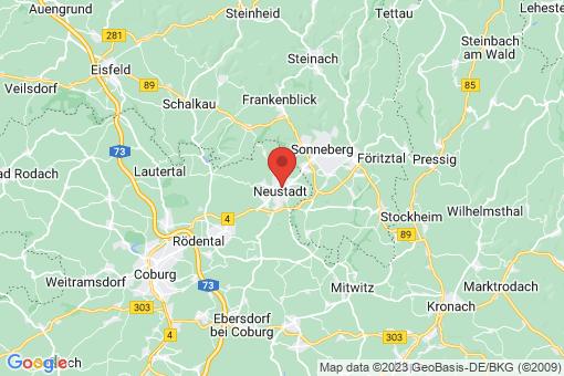Karte Neustadt bei Coburg