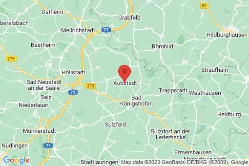 Karte Aubstadt