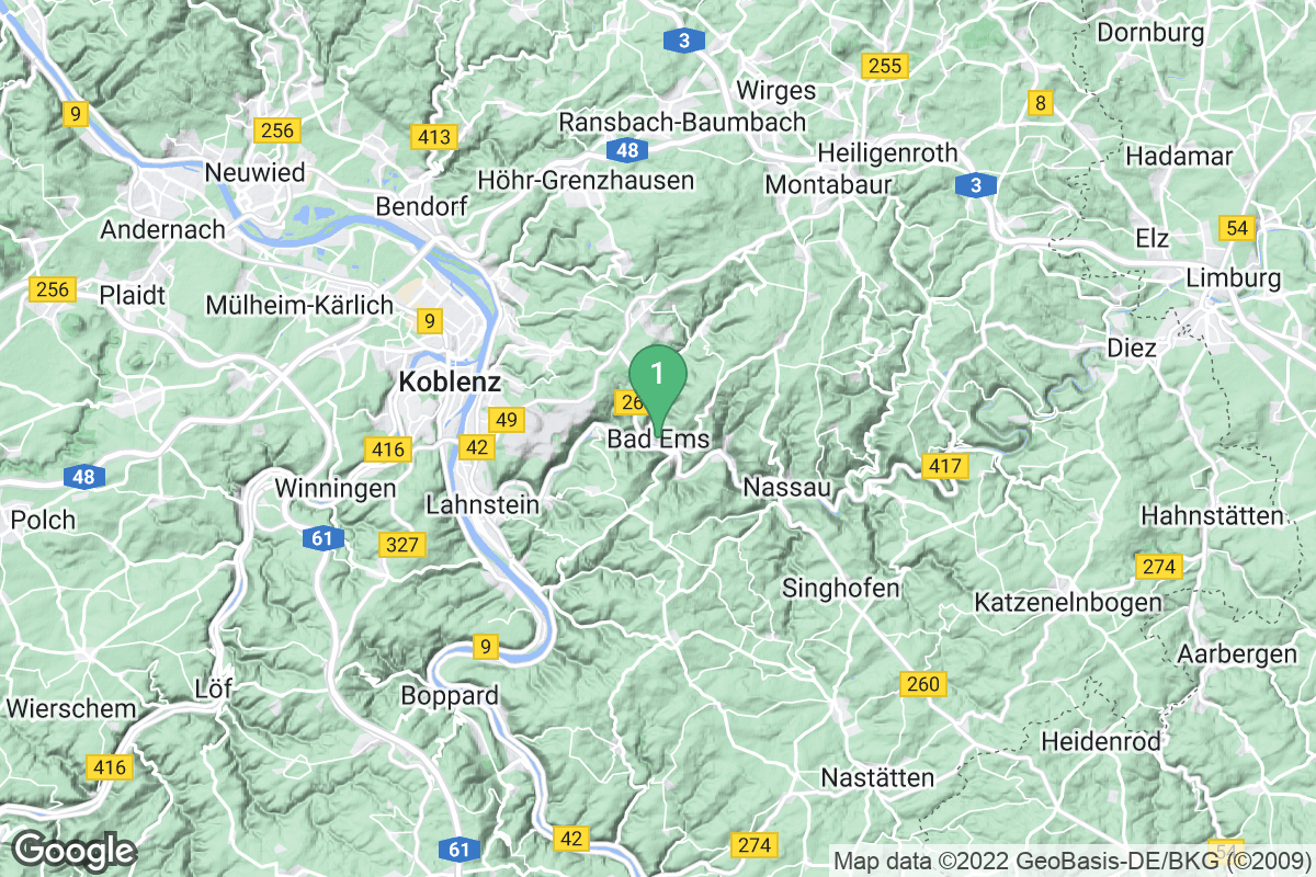 Google Map of Bad Ems