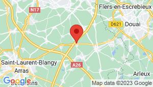 Carte de localisation du centre de contrôle technique FRESNES LES MONTAUBAN