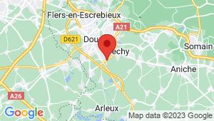 Carte de localisation du centre de contrôle technique DECHY