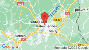 Carte de localisation du centre de contrôle technique VALENCIENNES