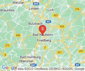 Karte für Disc Golf-Anlage Bad Nauheim