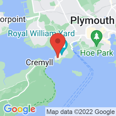 Map showing Ocean Studios - Royal William Yard