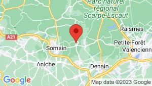 Carte de localisation du centre de contrôle technique HORNAING