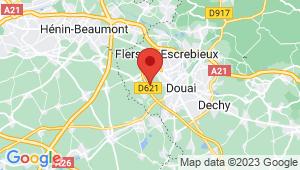 Carte de localisation du centre de contrôle technique CUINCY