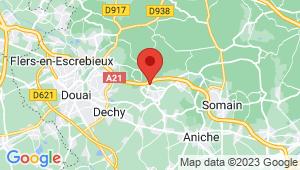 Carte de localisation du centre de contrôle technique PECQUENCOURT