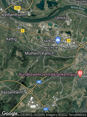Google Map of Mülheim-Kärlich