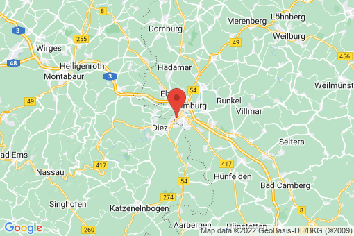 Karte Limburg an der Lahn