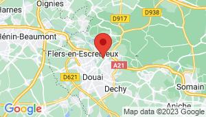 Carte de localisation du centre de contrôle technique DOUAI