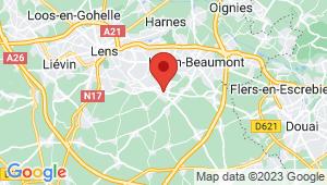 Carte de localisation du centre de contrôle technique ROUVROY