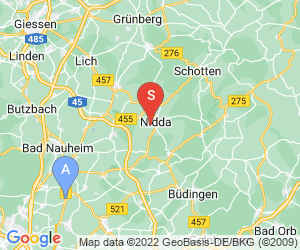 Karte für Paintball Nidda