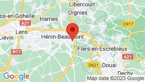 Carte de localisation du centre de contrôle technique NOYELLES GODAULT
