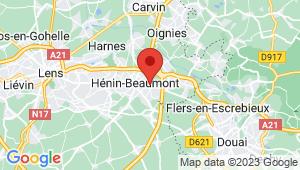 Carte de localisation du centre de contrôle technique Hénin Beaumont