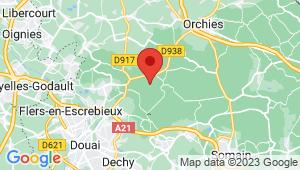 Carte de localisation du centre de contrôle technique FLINES LES RACHES