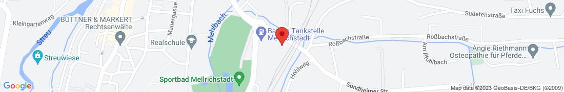 BayWa Tankstelle Mellrichstadt Anfahrt