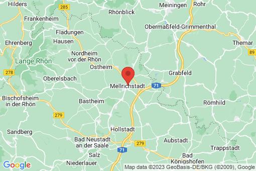 Karte Mellrichstadt