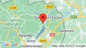 Carte de localisation du centre de contrôle technique FRESNES SUR ESCAUT