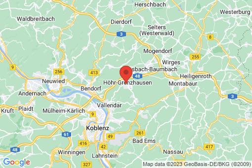 Karte Höhr-Grenzhausen