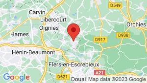 Carte de localisation du centre de contrôle technique LEFOREST