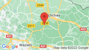 Carte de localisation du centre de contrôle technique COUTICHES