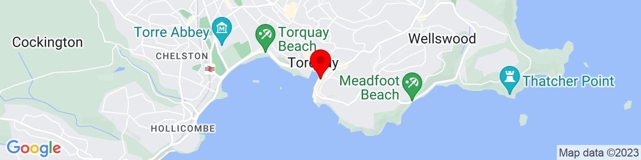 Google Map of 50.460061111111116, -3.524